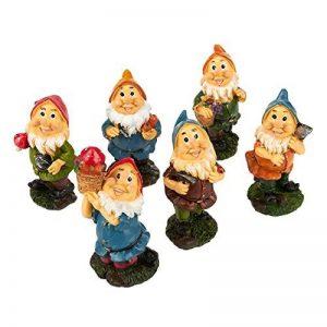 Lot de 6mini figurines de nain–Nain de jardin Gnomes de fée–Figurines, couleurs assorties, 4,3x 10,2x 4,1cm de la marque Juvale image 0 produit