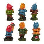 Lot de 6mini figurines de nain–Nain de jardin Gnomes de fée–Figurines, couleurs assorties, 4,3x 10,2x 4,1cm de la marque Juvale image 4 produit