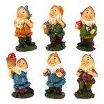 Lot de 6mini figurines de nain–Nain de jardin Gnomes de fée–Figurines, couleurs assorties, 4,3x 10,2x 4,1cm de la marque Juvale image 6 produit