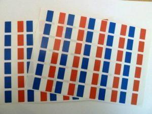 Lot de 60, 33 x 20 mm drapeau France-Auto-Adhésif autocollant/sticker Drapeau France-étiquettes adhésifs de la marque Minilabel image 0 produit