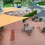 Love Story Bougie d'ombre triangulaire, auvent pour extérieur, patio, jard ¨ ªn 4x4x5,65m gris de la marque Love Story image 1 produit