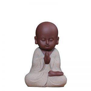 Lu2000mignon en céramique Petit moine Bouddha Creative Home Office Decor Zen Gesture - White de la marque LU2000 image 0 produit