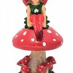 Lulu la petite Fée sur son champignon détachable - pour votre Jardin Féérique de la marque GlitZGlam image 2 produit