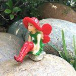 Lulu la petite Fée sur son champignon détachable - pour votre Jardin Féérique de la marque GlitZGlam image 4 produit
