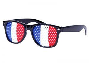 Lunettes à grille à trous Design Drapeau pays coupe du monde foot soirée évenement à thème humoristiques deguisement fête de la marque Alsino image 0 produit