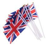 LUOEM Union Jack Drapeaux flottants à la main British Union Jack Drapeaux Royal Jubilé UK Grande-Bretagne Drapeaux (paquet de 50) de la marque LUOEM image 1 produit