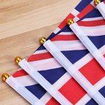 LUOEM Union Jack Drapeaux flottants à la main British Union Jack Drapeaux Royal Jubilé UK Grande-Bretagne Drapeaux (paquet de 50) de la marque LUOEM image 4 produit