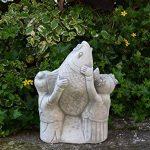 Lustige Statue de jardin japonais Koi poisson avec enfants en pierre au gel de la marque gartendekoparadies.de image 2 produit