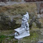 lustiger Nain Nain de jardin avec brouette massif en pierre Fonte au gel de la marque gartendekoparadies.de image 3 produit