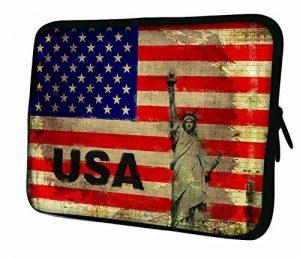 """Luxburg 12"""" pouces Housse Sacoche Pochette pour ordinateur portable / tablet - Drapeau USA de la marque Luxburg® image 0 produit"""