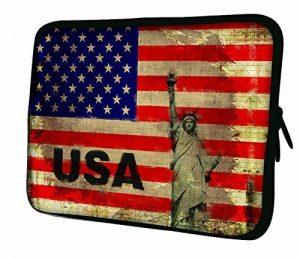 Luxburg® Nouveau design Sac Étui souple en néoprène pour ordinateur portable/ordinateur portable/tablette–Drapeau USA de la marque Luxburg® image 0 produit