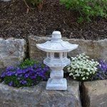 Magnifique lanterne de pierre Tachi-Gata Yukimi - En pierre coulée - Résistante au gel de la marque gartendekoparadies.de image 1 produit
