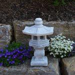 Magnifique lanterne de pierre Tachi-Gata Yukimi - En pierre coulée - Résistante au gel de la marque gartendekoparadies.de image 2 produit