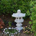 Magnifique lanterne de pierre Tachi-Gata Yukimi - En pierre coulée - Résistante au gel de la marque gartendekoparadies.de image 3 produit