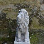 Magnifique lion gardien direction droite en pierre de fonte, résistant au gel de la marque gartendekoparadies.de image 3 produit