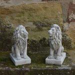 Magnifique lion gardien direction droite en pierre de fonte, résistant au gel de la marque gartendekoparadies.de image 4 produit