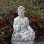 Magnifique Pierre Bouddha agenouillé moine en pierre en fonte au gel de la marque gartendekoparadies.de image 1 produit