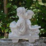 Magnifique statue de fille sur un banc en pierre de fonte, résistant au gel de la marque gartendekoparadies.de image 3 produit