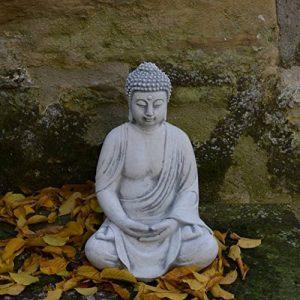 Magnifique statuette de bouddha en pierre de fonte, résistant au gel de la marque gartendekoparadies.de image 0 produit
