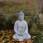 Magnifique statuette de bouddha en pierre de fonte, résistant au gel de la marque gartendekoparadies.de image 1 produit