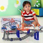 Majome Electric Racing Rail de voiture enfants Circuit de train Modèle jouet de construction de transport logement Définit suivi de chemin de fer de la marque Majome image 4 produit
