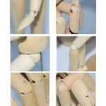 Mannequin de Bois - Mannequin Corps Humain en Bois 30,48cm - Personnage Articulé avec Support - Figurine en bois pour le Dessin et les Arts de la marque KURTZY image 4 produit