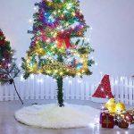 Marry Acting Couvre-pieds de sapin de Noël blanc en fausse fourrure de 90cm de diamètre de la marque Marry Acting image 1 produit
