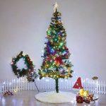 Marry Acting Couvre-pieds de sapin de Noël blanc en fausse fourrure de 90cm de diamètre de la marque Marry Acting image 3 produit