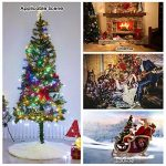 Marry Acting Couvre-pieds de sapin de Noël blanc en fausse fourrure de 90cm de diamètre de la marque Marry Acting image 4 produit