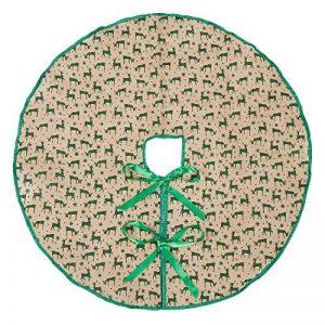 Marry Agissant 76,2cm Jupe de sapin de Noël en toile de jute Vert avec bordure de cerfs, Tapis de sapin de Noël pour décoration de fête de la marque Marry Acting image 0 produit
