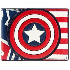 Marvel Captain America Drapeau de style rouge Portefeuille de la marque Marvel image 0 produit