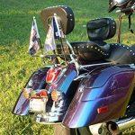 Mat support Drapeau Noir ou Chrome pour moto, trike, Choppers, Harley Flag Mounting (Chrome) de la marque Hells-Design image 1 produit