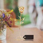 Matashi® - Spécial Saint Valentin et Fête des Mères!!! Ornement - Magnifique Rose avec Support pour Table 24ct plaqué or Fabriqué avec des Cristaux Matashi- Vient dans Une Pochette de Velours dans Une Boîte de Cadeau de Luxe de la marque Matashi image 4 produit