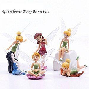 Matecam Lot de 6différents Fleur Fée Décorations figurine miniature pour jardin Pot de fleurs Craft Dollhouse Décoration de la marque MATECam image 0 produit
