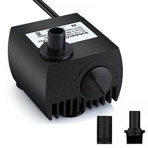 Maxesla Pompe Eau Submersible Aquarium Pump Ajustable 300L/H 3W Ultra-silencieux avec 4 Pieds de Ventouses pour Fish Tank Fontaine etc. EU Plug de la marque Maxesla image 0 produit