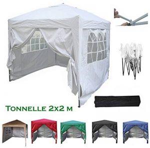 Mcc@home Gazébo/Pavillon/Tente/Tonnelle/Auvent pliable et résistant à l'eau, 2x2m, avec couche protectrice argentée (Blanc) de la marque MCC image 0 produit