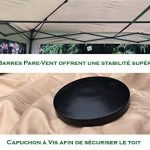 Mcc@home Gazébo/Pavillon/Tente/Tonnelle/Auvent pliable et résistant à l'eau, 2x2m, avec couche protectrice argentée (Noir) de la marque MCC image 1 produit