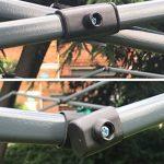 Mcc@home Gazébo/Pavillon/Tente/Tonnelle/Auvent pliable et résistant à l'eau, 2x2m, avec couche protectrice argentée (Noir) de la marque MCC image 2 produit
