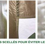 Mcc@home Gazébo/Pavillon/Tente/Tonnelle/Auvent pliable et résistant à l'eau, 2x2m, avec couche protectrice argentée (Noir) de la marque MCC image 3 produit