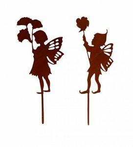 Metallmichl Michl patine Jardin en métal tige Elfes de fées 'Lina' 2pièces, hauteur 30cm de la marque Metallmichl image 0 produit