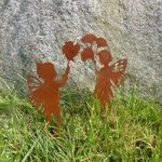 Metallmichl Michl patine Jardin en métal tige Elfes de fées 'Lina' 2pièces, hauteur 30cm de la marque Metallmichl image 1 produit