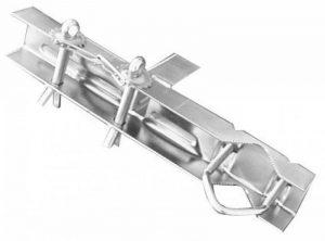 Metronic 450895 Fixation toit et cheminée Cerclage double zingue blc pour mat D25 a 50mm/L 345mm/l'unite de la marque Metronic image 0 produit