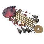 Midore Carillon de jardin, style chinois 4tubes 5Bells Bronze Wind Chimes pour balcon et fil Décoration de la marque Midore image 1 produit