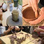 Miminuo Ensemble de 19outils de sculpture, stylet boule, point, outils poterie en argile à modeler, ensemble de kit de peinture de roche avec une housse de rangement, 9 Pieces de la marque MIMINUO image 4 produit
