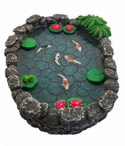 Mini bassin Koï – un mini bassin à carpes Koï pour votre Jardin Féérique – un accessoire pour votre Jardin Enchanté par GlitZGlam de la marque GlitZGlam image 0 produit