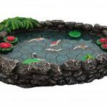 Mini bassin Koï – un mini bassin à carpes Koï pour votre Jardin Féérique – un accessoire pour votre Jardin Enchanté par GlitZGlam de la marque GlitZGlam image 1 produit