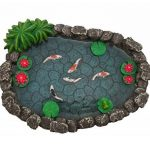 Mini bassin Koï – un mini bassin à carpes Koï pour votre Jardin Féérique – un accessoire pour votre Jardin Enchanté par GlitZGlam de la marque GlitZGlam image 2 produit