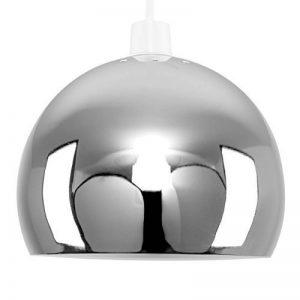 MiniSun Abat-Jour Abat Jour pour Lustre ou Suspension Boule / Globe en Chrome Polis et blanc à l'intérieure Rétro ou Contemporain , Adapté pour Douille de 42 mm (ou 28 mm avec bague de réduction) de la marque MiniSun image 0 produit