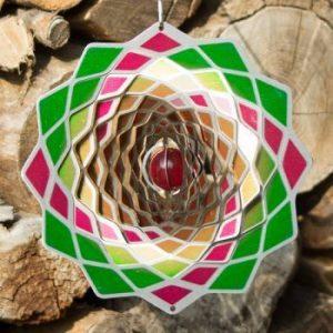 Mobile en acier inoxydable - Flower Lotus 200 - Dimensions : 20 x 20cm - incl. Crochet et émerillon à roulement à billes de la marque IMC Networks image 0 produit