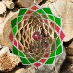 Mobile en acier inoxydable - Flower Lotus 200 - Dimensions : 20 x 20cm - incl. Crochet et émerillon à roulement à billes de la marque IMC Networks image 1 produit